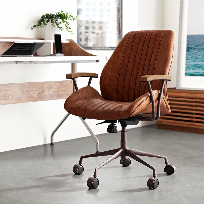 Leonardo Genuine Leather Task Chair Reviews Allmodern