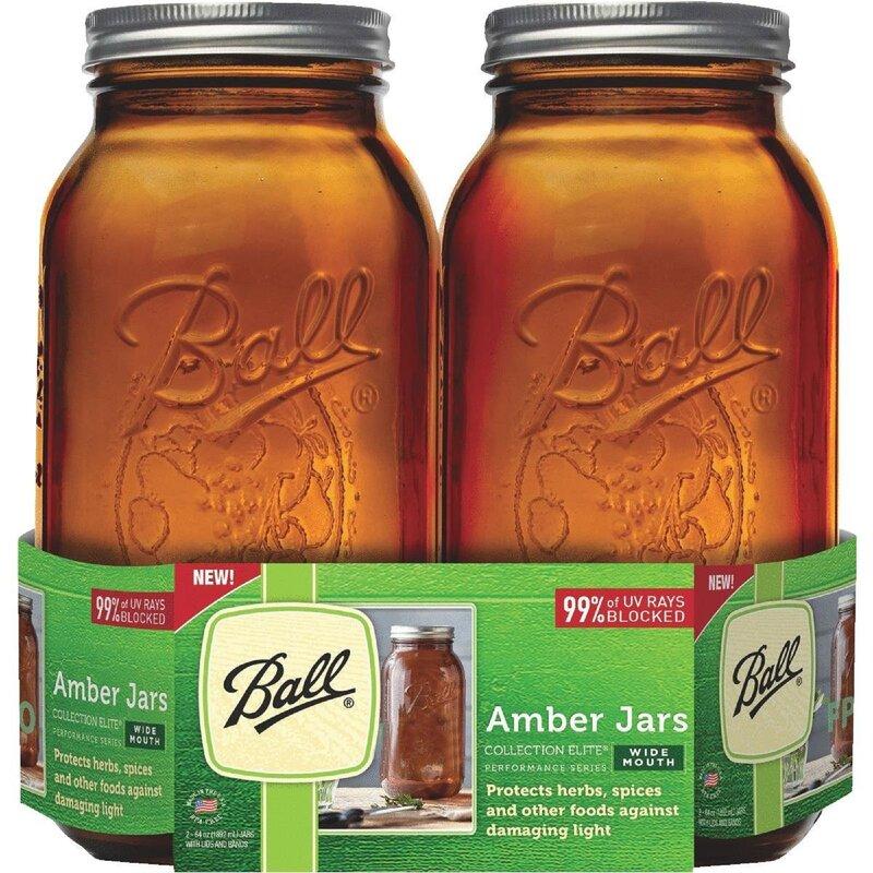 Ball Elite Amber 2 qt. Canning Jar