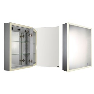 Medicinehaus 21.75 x 27.5 Recessed or Surface Mount Medicine Cabinet with LED Lighting ByWhitehaus Collection