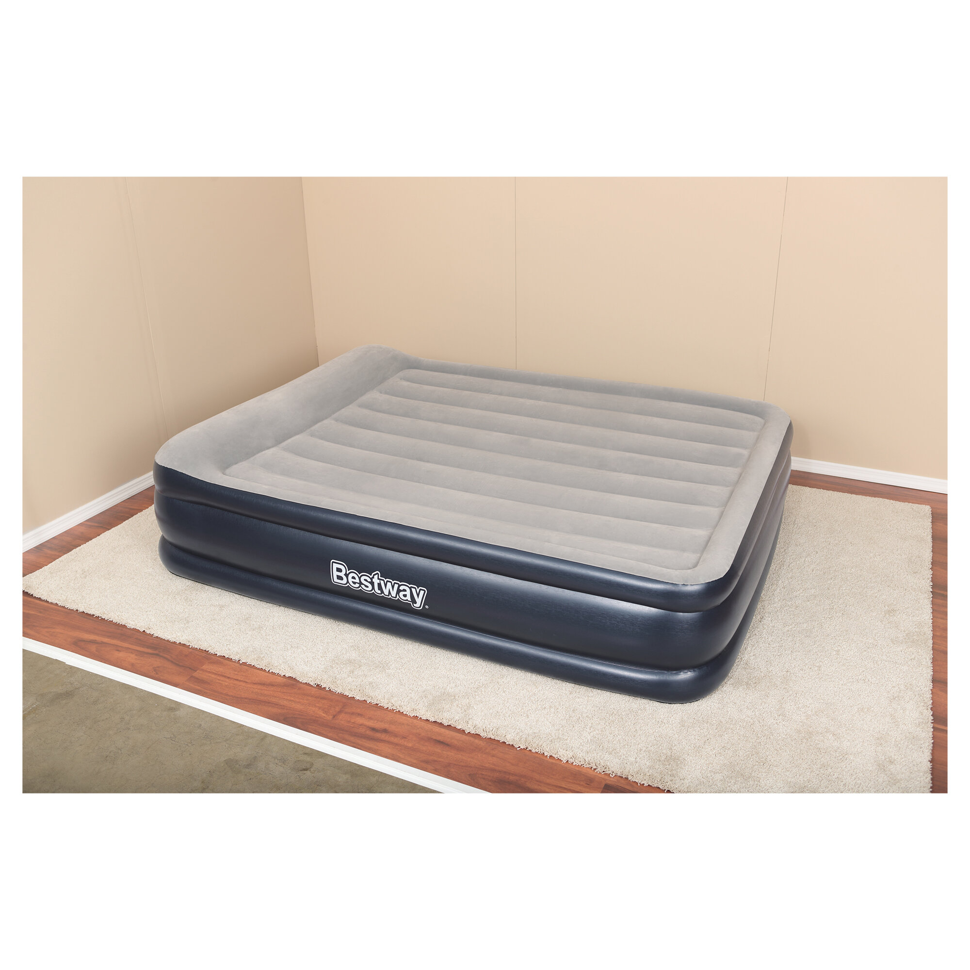 Bestway Tritech Highrise Queen Size Airbed Mattress Built-In Pump Luxury Air Bed