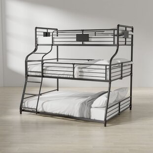 Top Reviews Prather Twin Over Full Over Queen Bunk Bed by Harriet Bee Reviews (2019) & Buyer's Guide