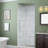 Belmore GS 67x 72 Hinged Frameless Frosted Shower Door by Aston