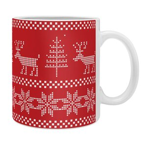 Christmas Knitting Deer Coffee Mug