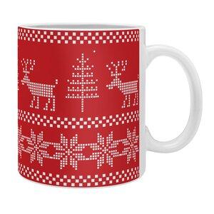 Christmas Knitting Deer Coffee Mug