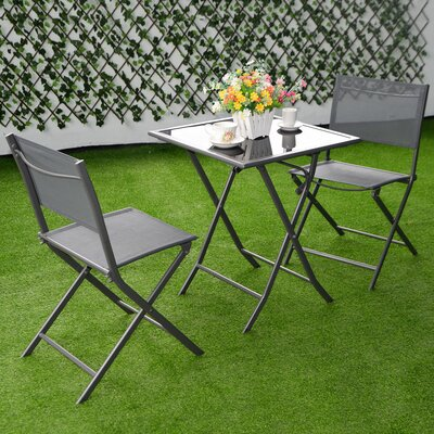 Ansgard 3 Piece Bistro Set by Latitude Run Cool