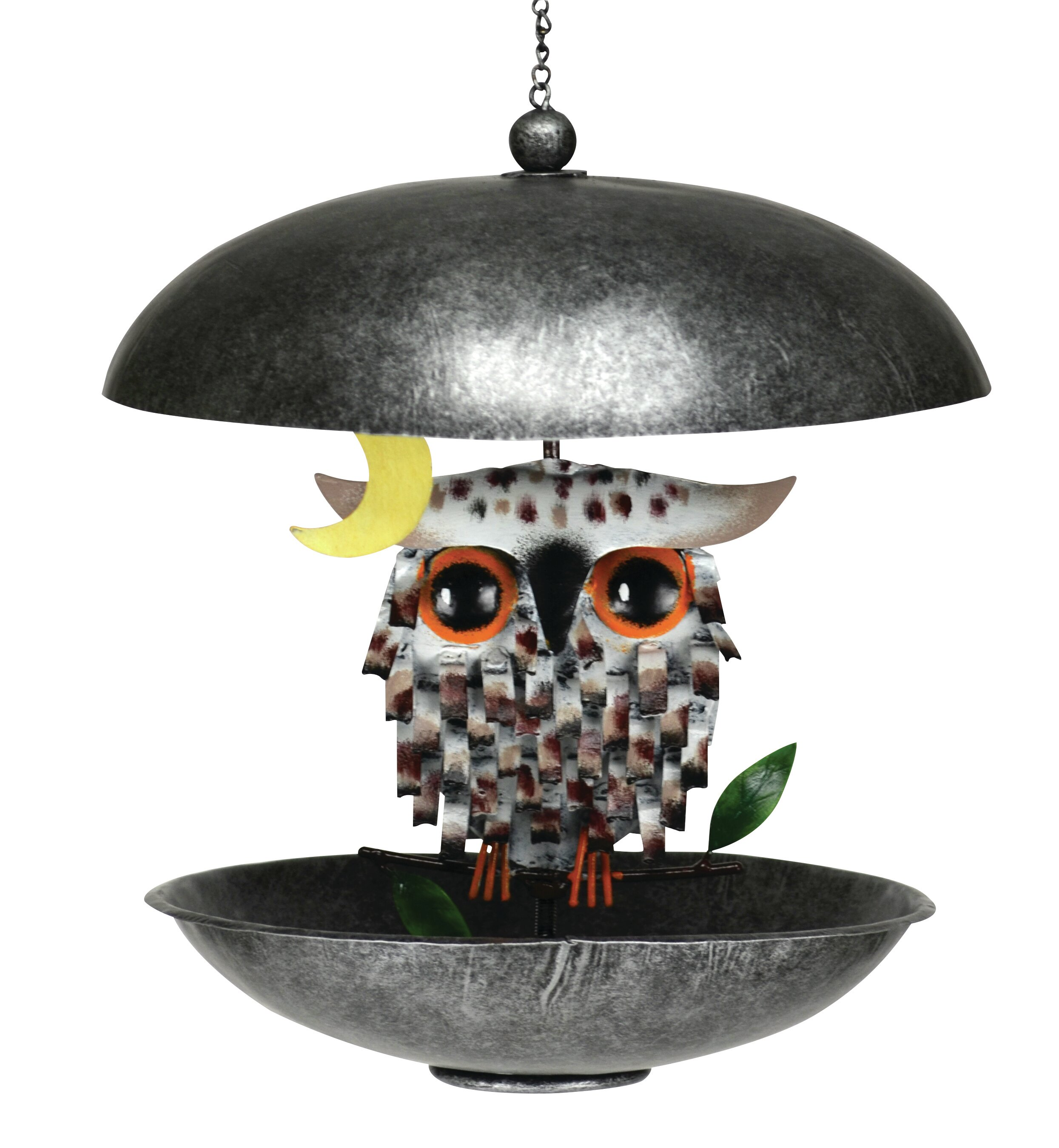 Gift Essentials Snowy Spikey Owl Bistro Decorative Bird Feeder Wayfair