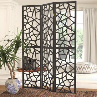 Charlayne 3 Panel Room Divider by World Menagerie