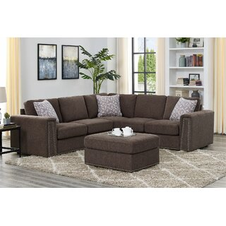 Arleigh Symmetrical Sectional with Ottoman by Red Barrel Studio SKU:AB211505 Guide
