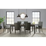 Panola Upholstered Arm Chair in Gray (Set of 2) by Gracie Oaks