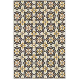 Burd Yellow/Gray/Brown Indoor/Outdoor Area Rug