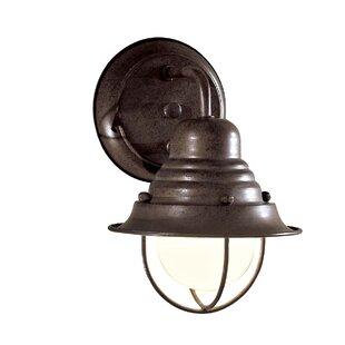 Read Reviews Key Vista 1-Light Outdoor Barn Light By Breakwater Bay