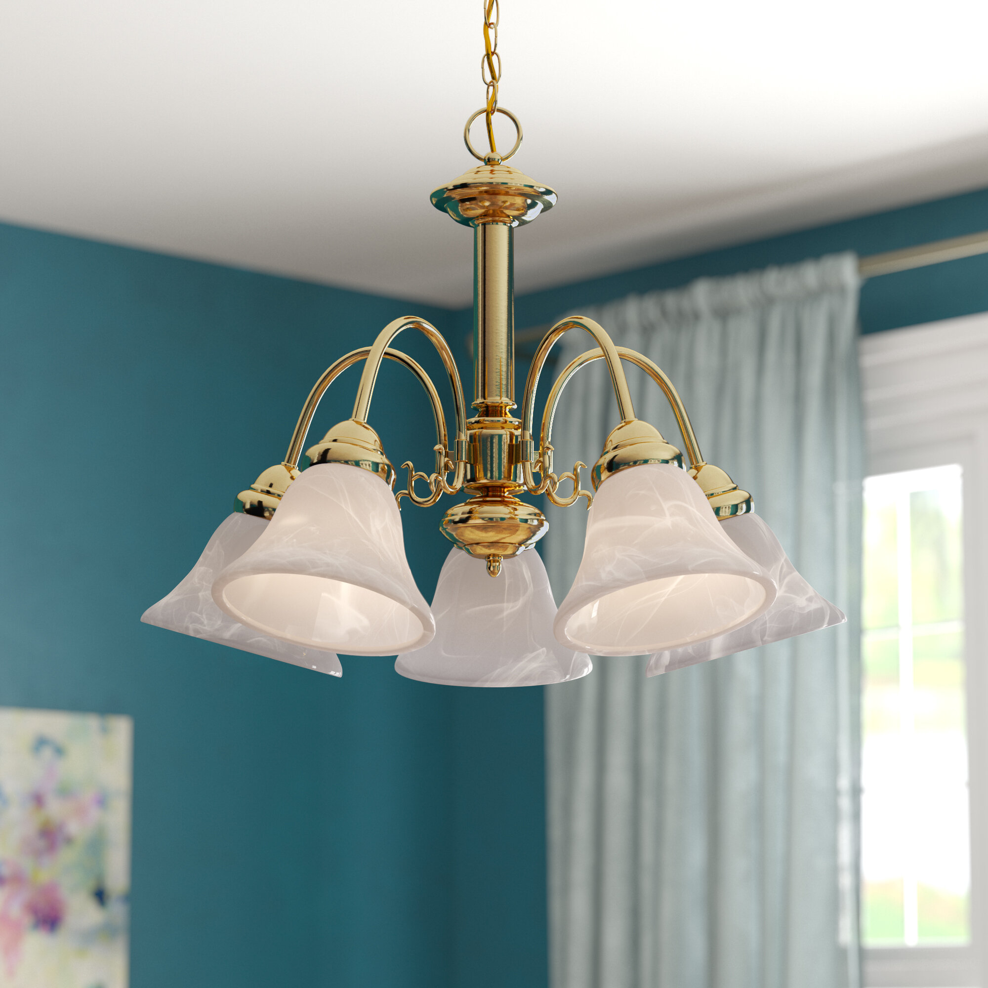 Charlton Home Turcotte 5 Light Shaded Classic Traditional Chandelier Reviews Wayfair