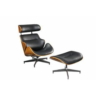 Lela Swivel Lounge Chair with Ottoman