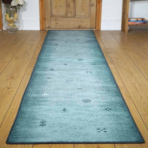 Bannock Looped Blue Hallway Runner Rug ClassicLiving Rug Siz