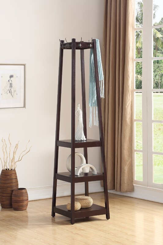 Clark 3-Tier Storage Shelve Coat Rack & Reviews | Birch Lane