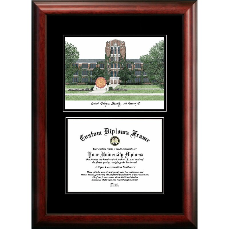 Red Barrel Studio Stefaniya Central Michigan University Diploma Picture Frame Wayfair