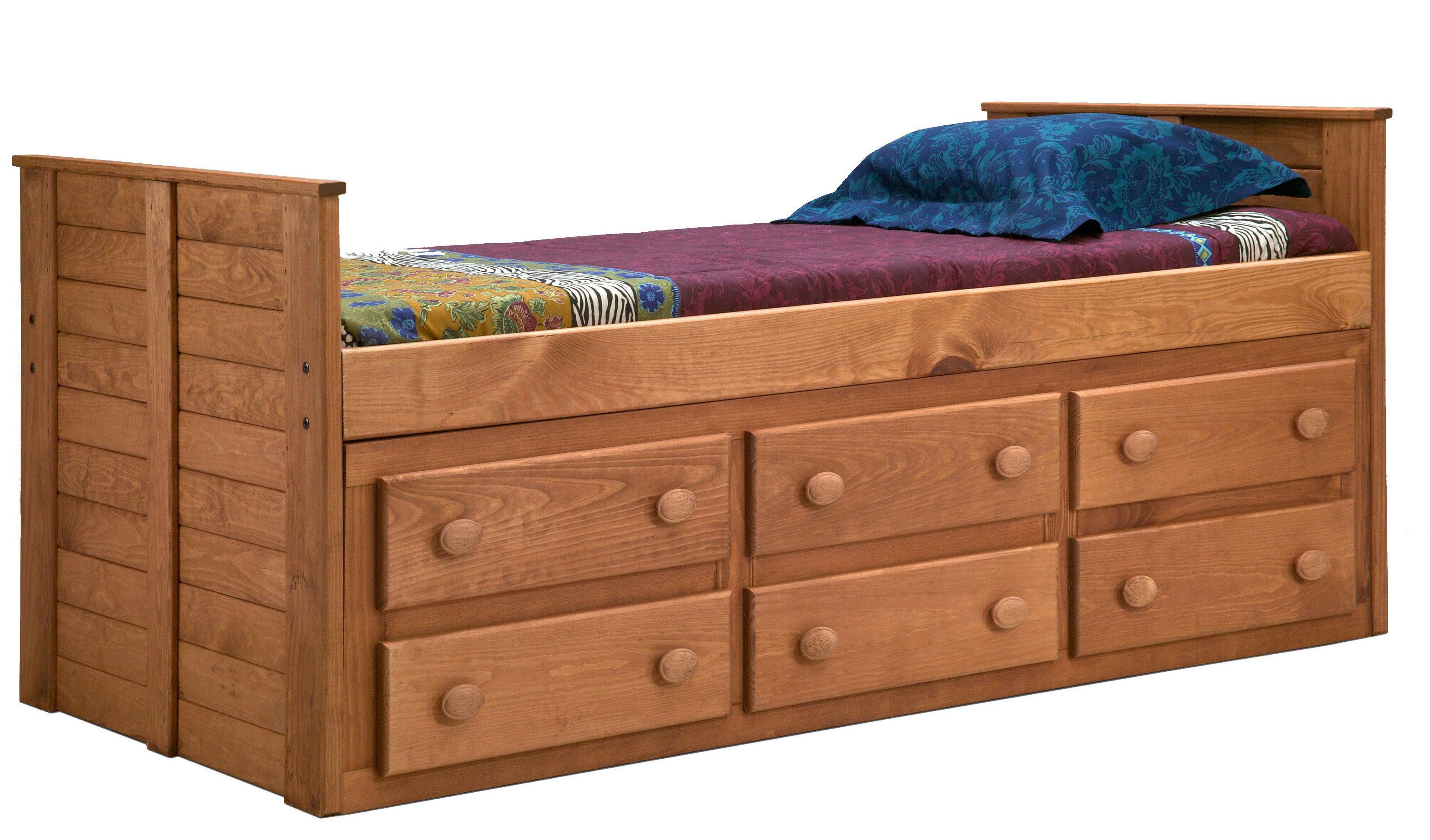 Harriet Bee Chea Twin Mate's & Captain's Bed with Storage | Wayfair