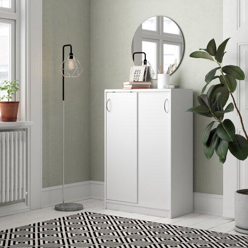 111 cm Aufbewahrungsschrank Kiel All Home Farbe: Weiß| Größe: 111 cm H x 109 cm B x 39 cm T | Flur & Diele > Mehrzweckschränke | All Home