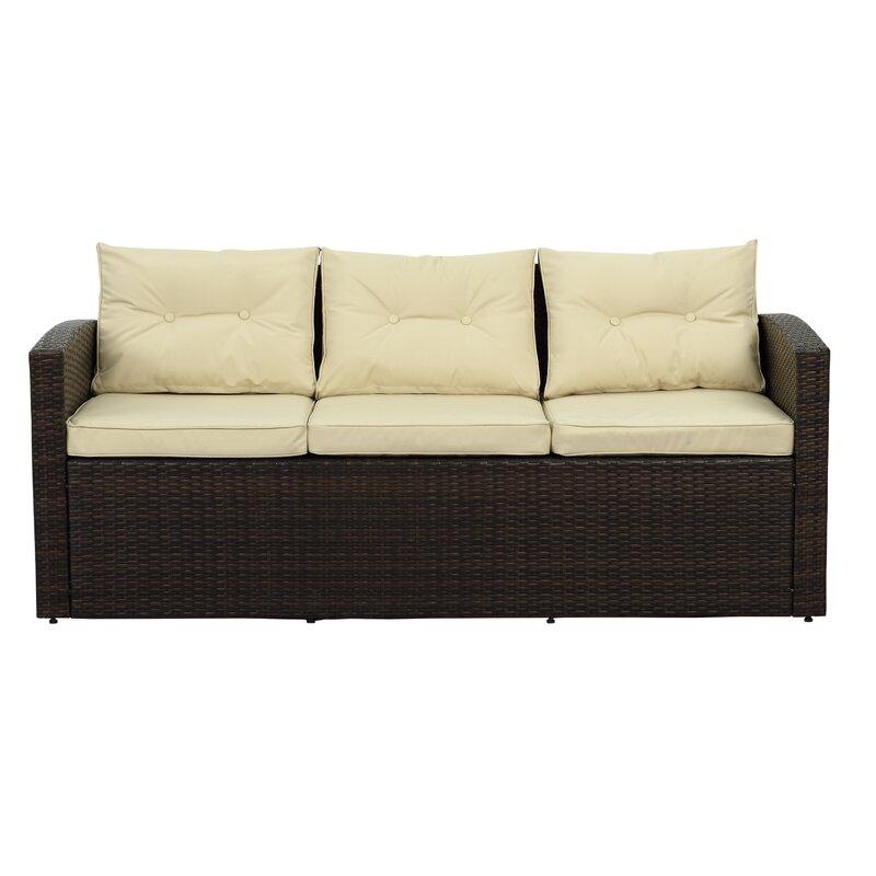 Owen 5 Piece Rattan Sofa Set With Cushions