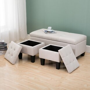 Velasquez Storage Ottoman (Set of 3) by Charlton Home