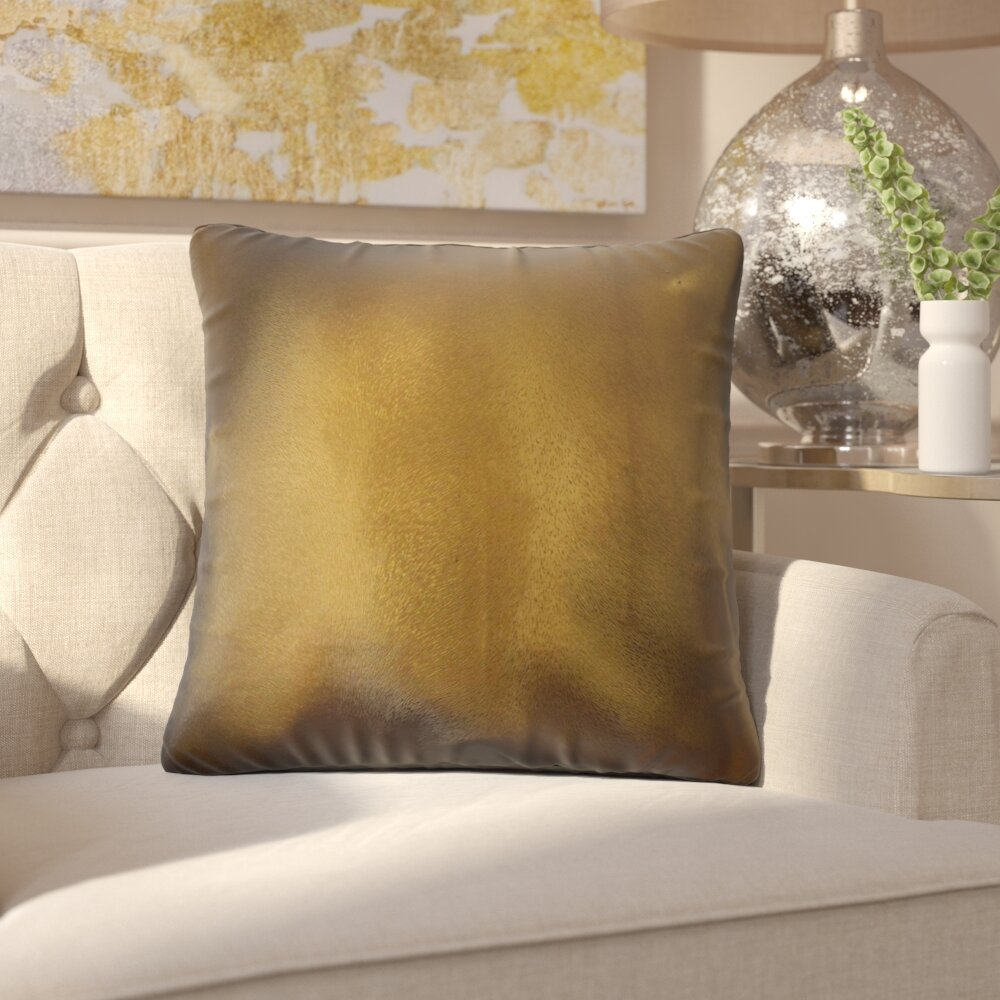 Everly Quinn Huang Glam Solid Down Filled Throw Pillow Wayfair