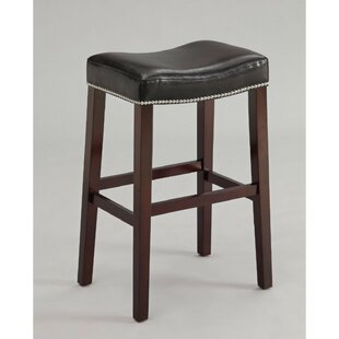 Dao Upholstered Wooden 31 Bar Stool (Set of 2)