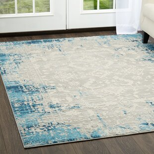 Glidden Antiqued Border Blue Area Rug by Williston Forge