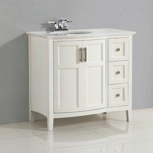 Price Check Winston 37 Single Bathroom Vanity Set BySimpli Home