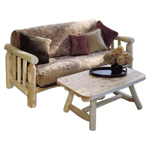 Log Futon Frame Rustic Natural Cedar Furniture