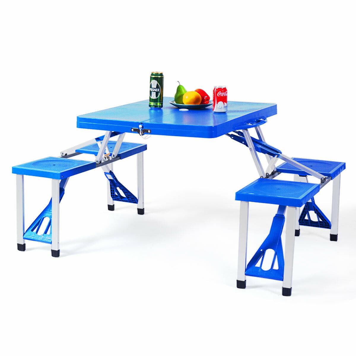 Arlmont Co Waylon Folding Plastic Camping Table Wayfair