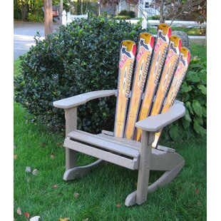 Snow Ski Plastic Adirondack Chair Rocker