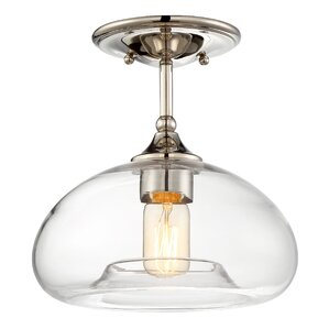 salter 1light semi flush mount