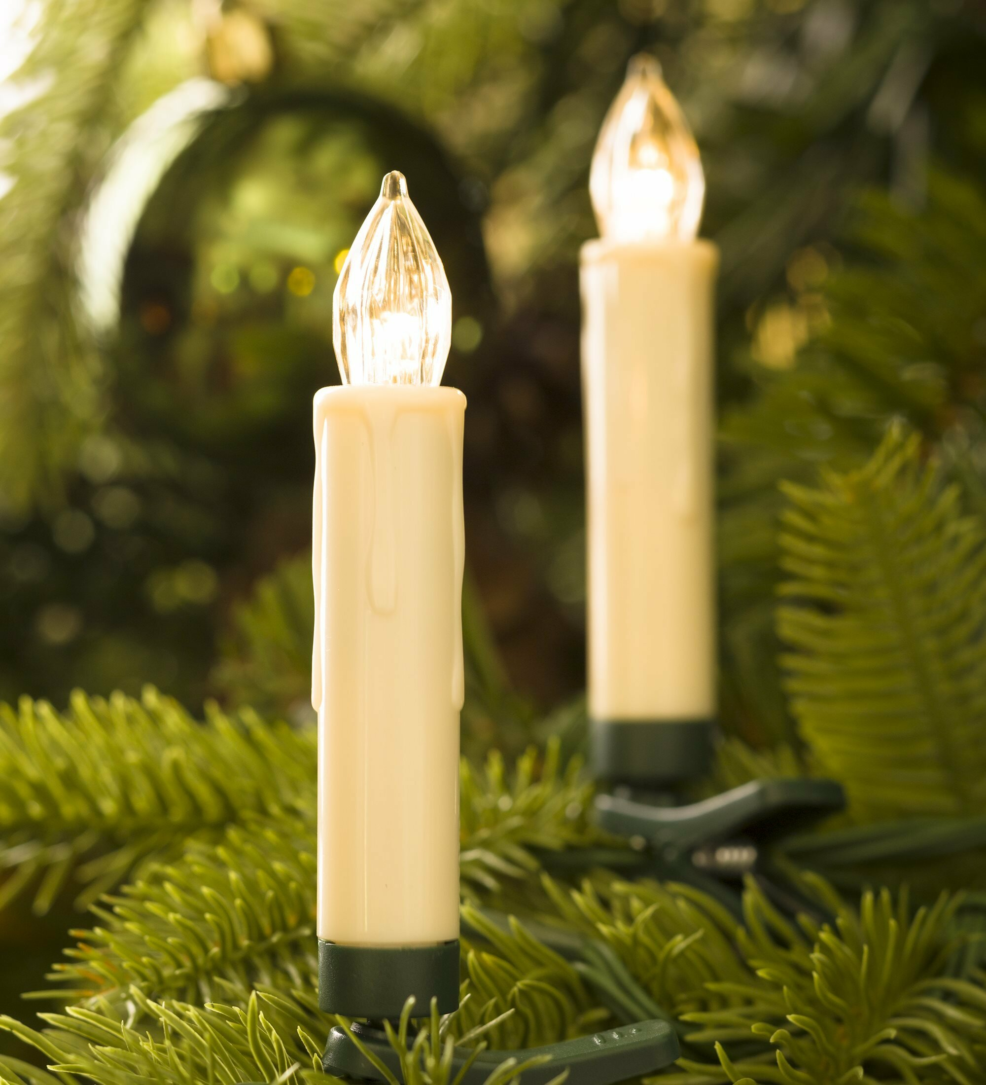 plow hearth clip on christmas tree candle light birch lane