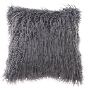 Mills Mongolian Fur Throw Pillow