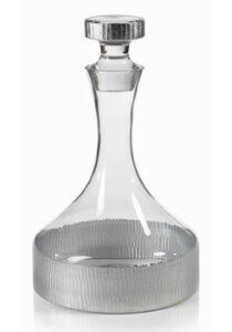 Kosta Silver Base Glass Decanter