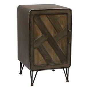 Delicia Wood and Metal 1 Door Accent Cabinet