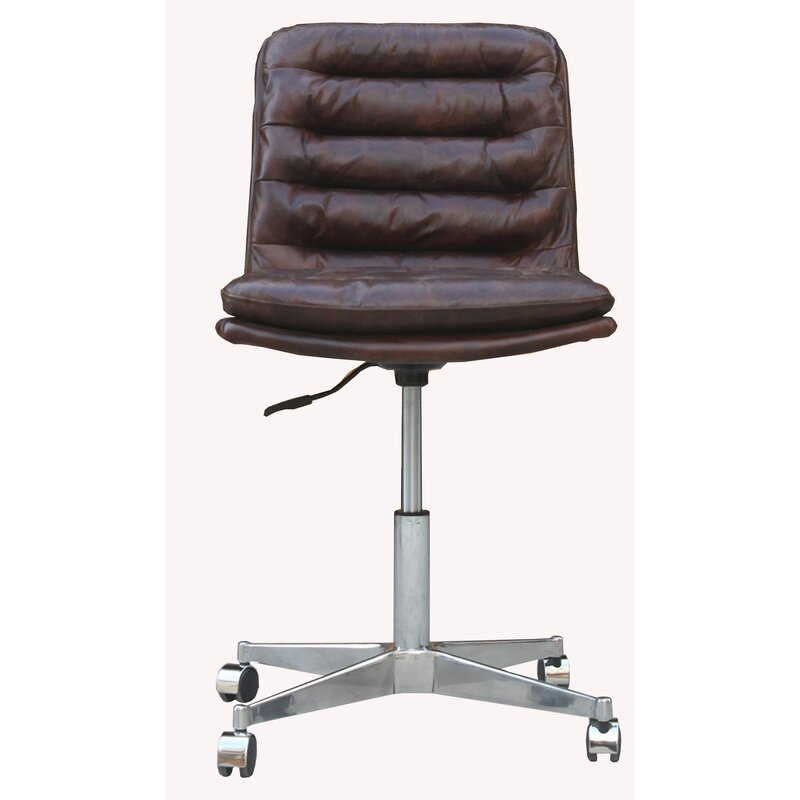 17 Stories  Deshong Task Chair Color (Upholstery): Brown