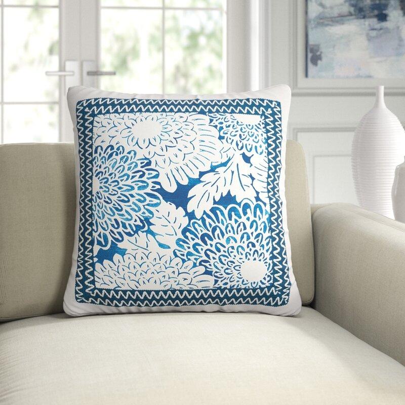 Eastern Accents Kiku Cotton Floral Throw Pillow Perigold
