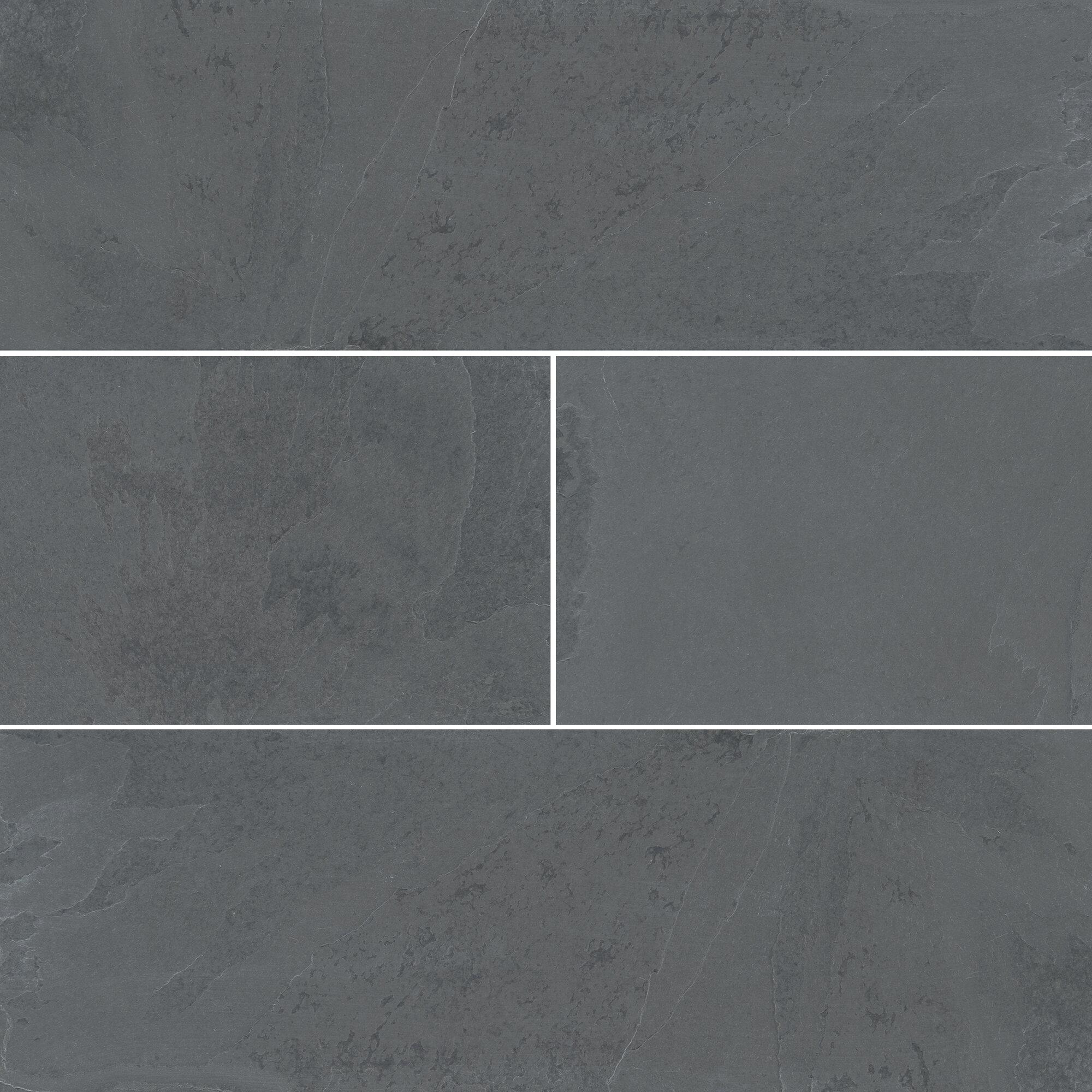 Msi Montauk 4 X 12 Slate Subway Tile In Gray Reviews Wayfair