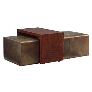 Take Five Broadway Leather Ottoman by Lexington
