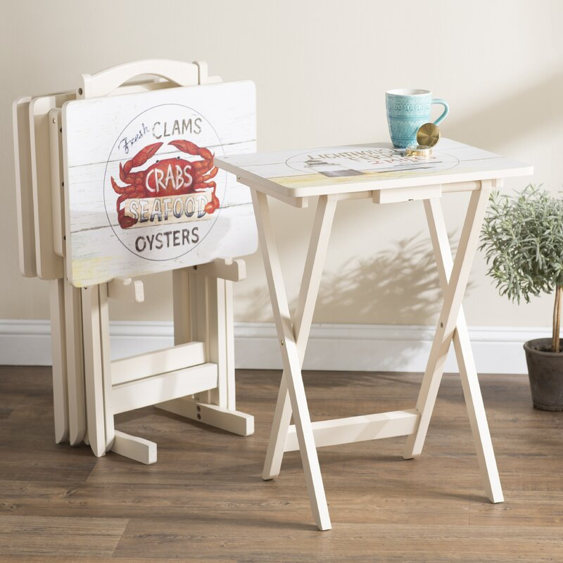 Whittier TV Tray Table With Stand