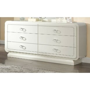 Gilleland 6 Drawer Double Dresser