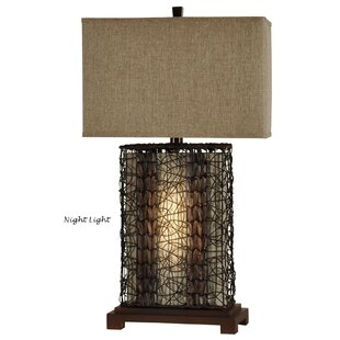 Rattan table lamp wayfair williamsfield 32 table lamp aloadofball Images
