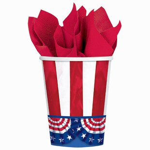 Patriotic American Pride Paper Disposable Everyday Cup (Set of 50)