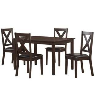Fitzsimmons 5 Piece Traditional Style Dining Set Winston Porter