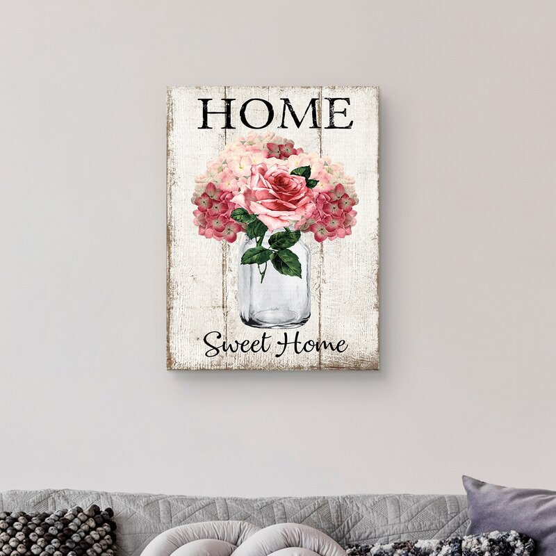 Home Bloom by Deborah Bown - Wrapped Canvas Graphic Art Print