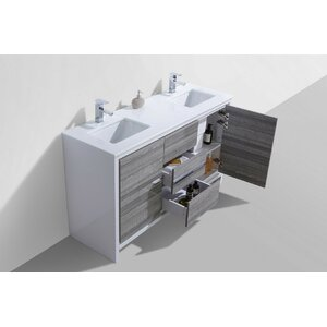 Bosley 59 Double Bathroom Vanity Set