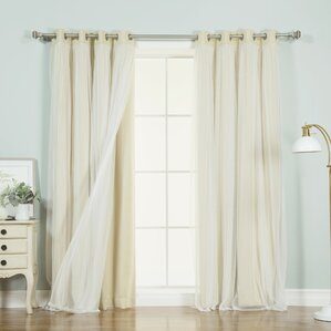 braswell solid thermal grommet curtain panels set of 2 - Sheer Curtain Panels