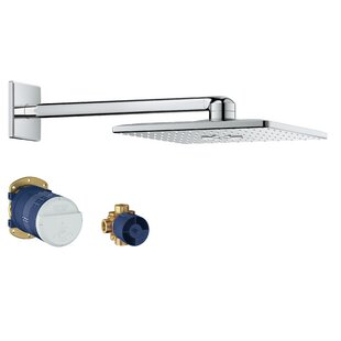 SmartActive Cube Rain Shower Head with SpeedClean Nozzles ByGrohe