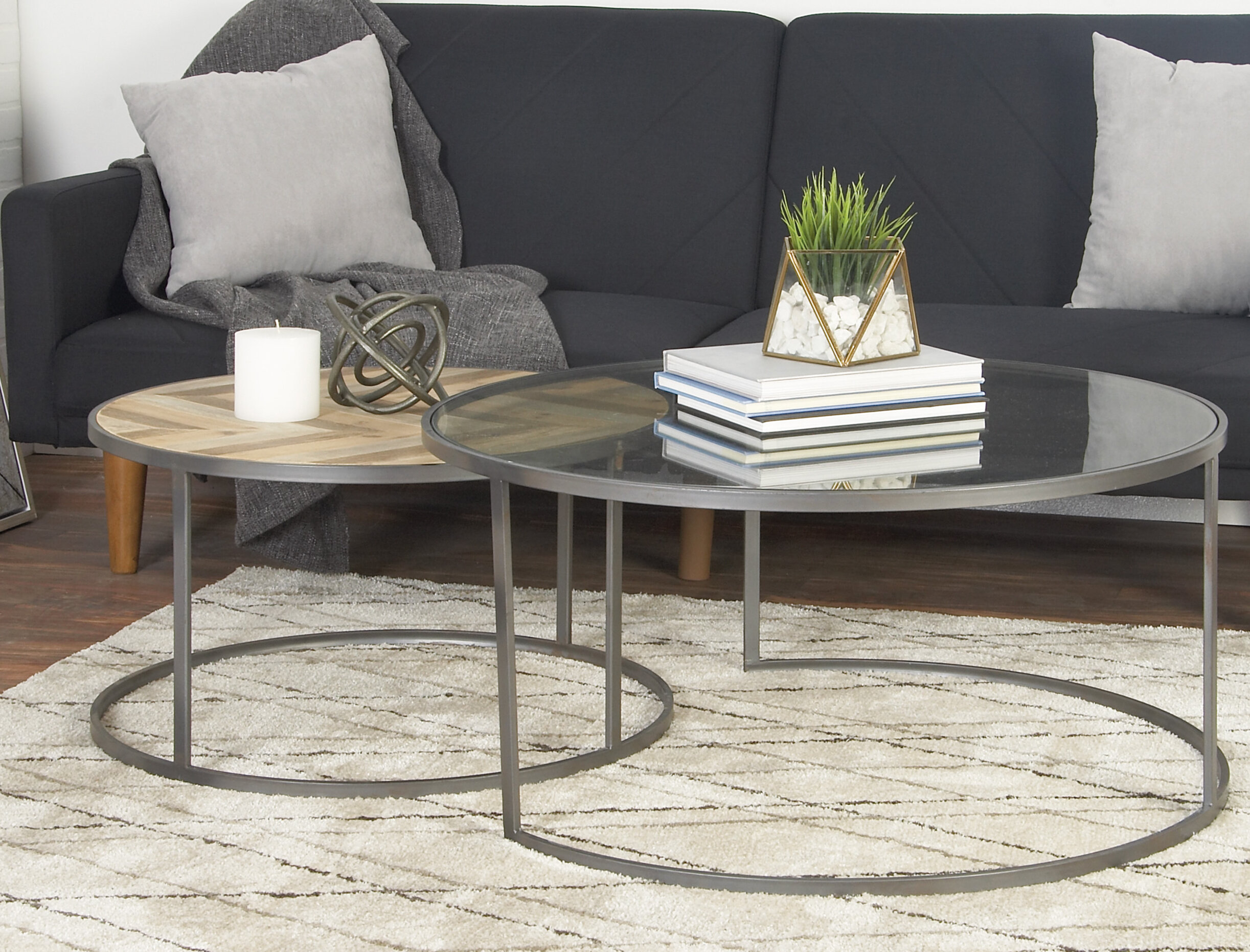 Orkney contemporary 2 piece coffee table set reviews allmodern